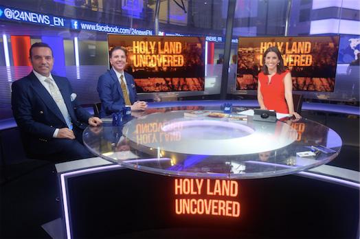 Dr. Oktar Babuna and Dr.Cihat Gundogdu İsrail'in İngilizce tv kanalı i24'de Tal Heinrich'in sunduğu Kutsal Topraklar üzerine bir programa katıldılar.