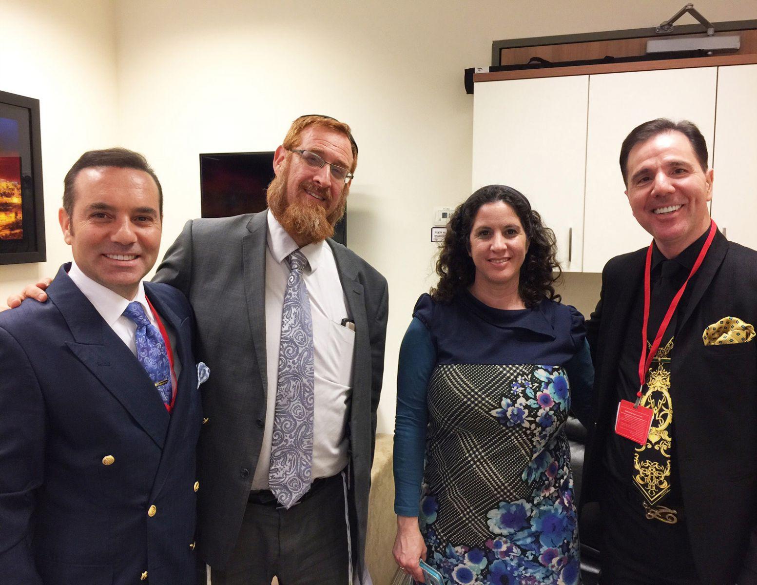 Yediot Ahronot Gazetesinden Yifat Erlich ve Haham Yehuda Glick ile Knesset'de gerçekleşen bir görüşme