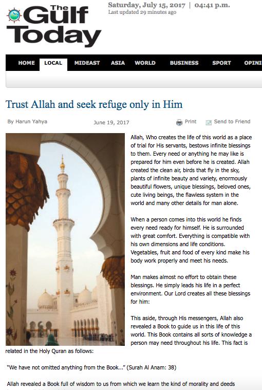 Allah'a güvenip sığınmak