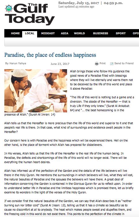 Sonsuz mutluluk yurdu cennet