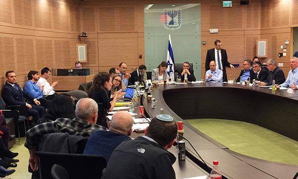 İsrail meclisinde bir toplantıdan resimler