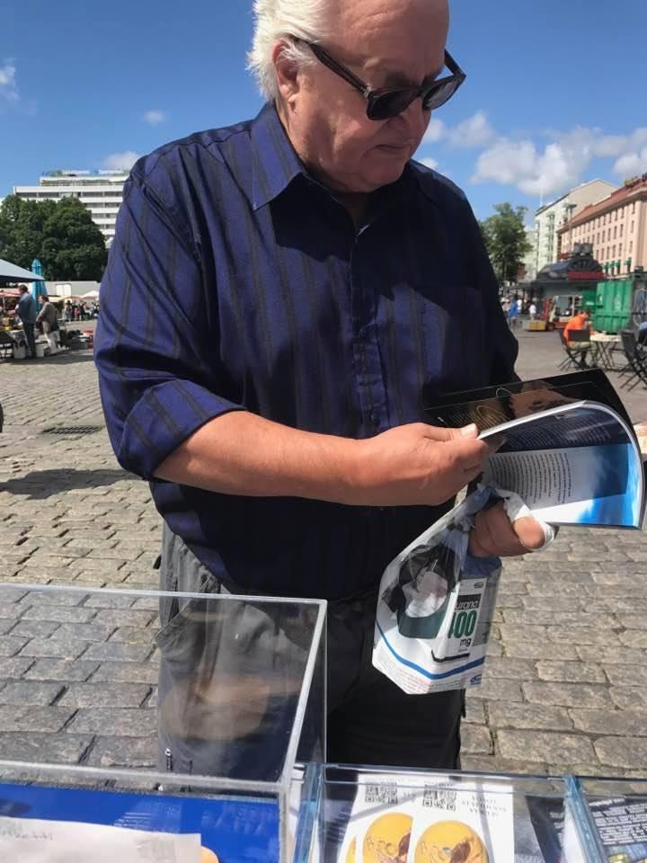 Turku şehrinde fosil sergisi