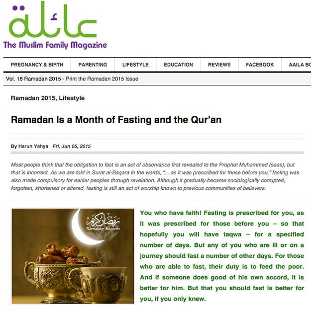 aaila magazine_adnan_oktar_ramadan