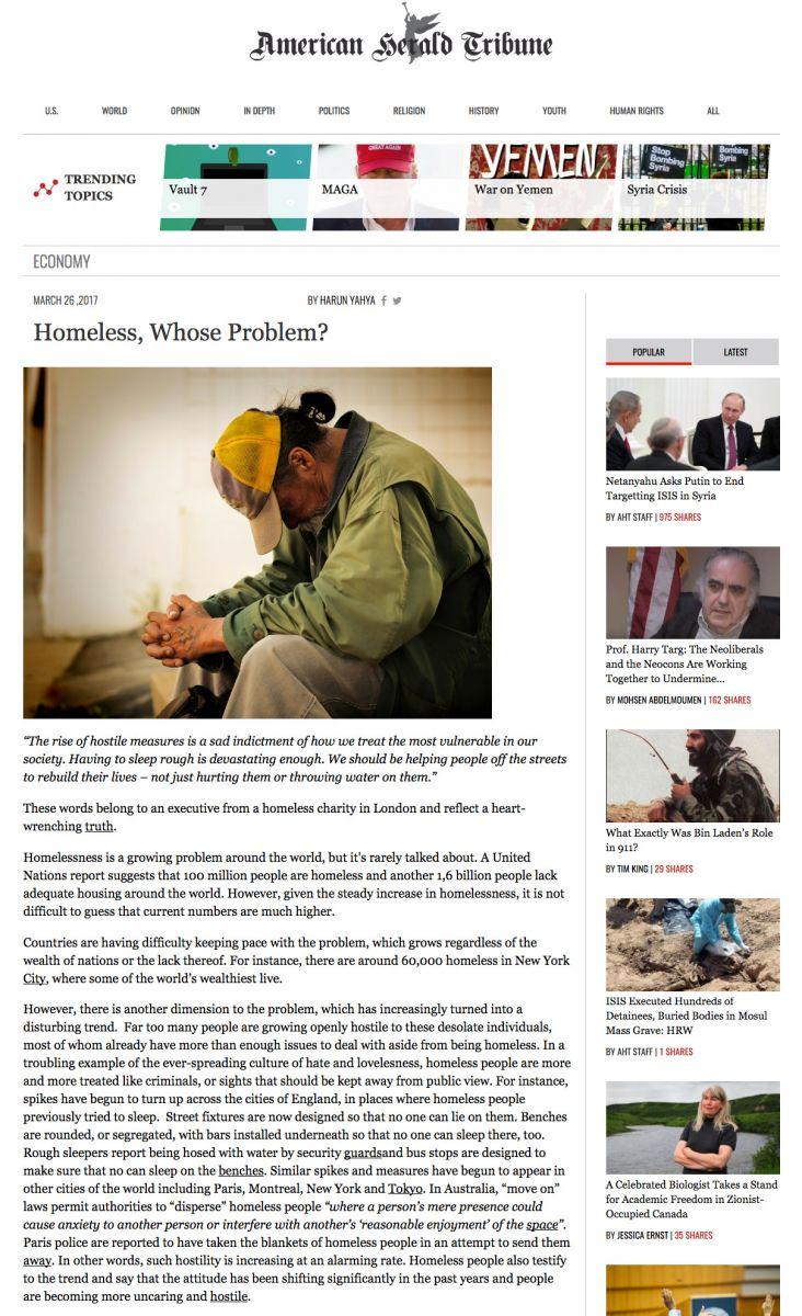 Homeless, Whose Problem?