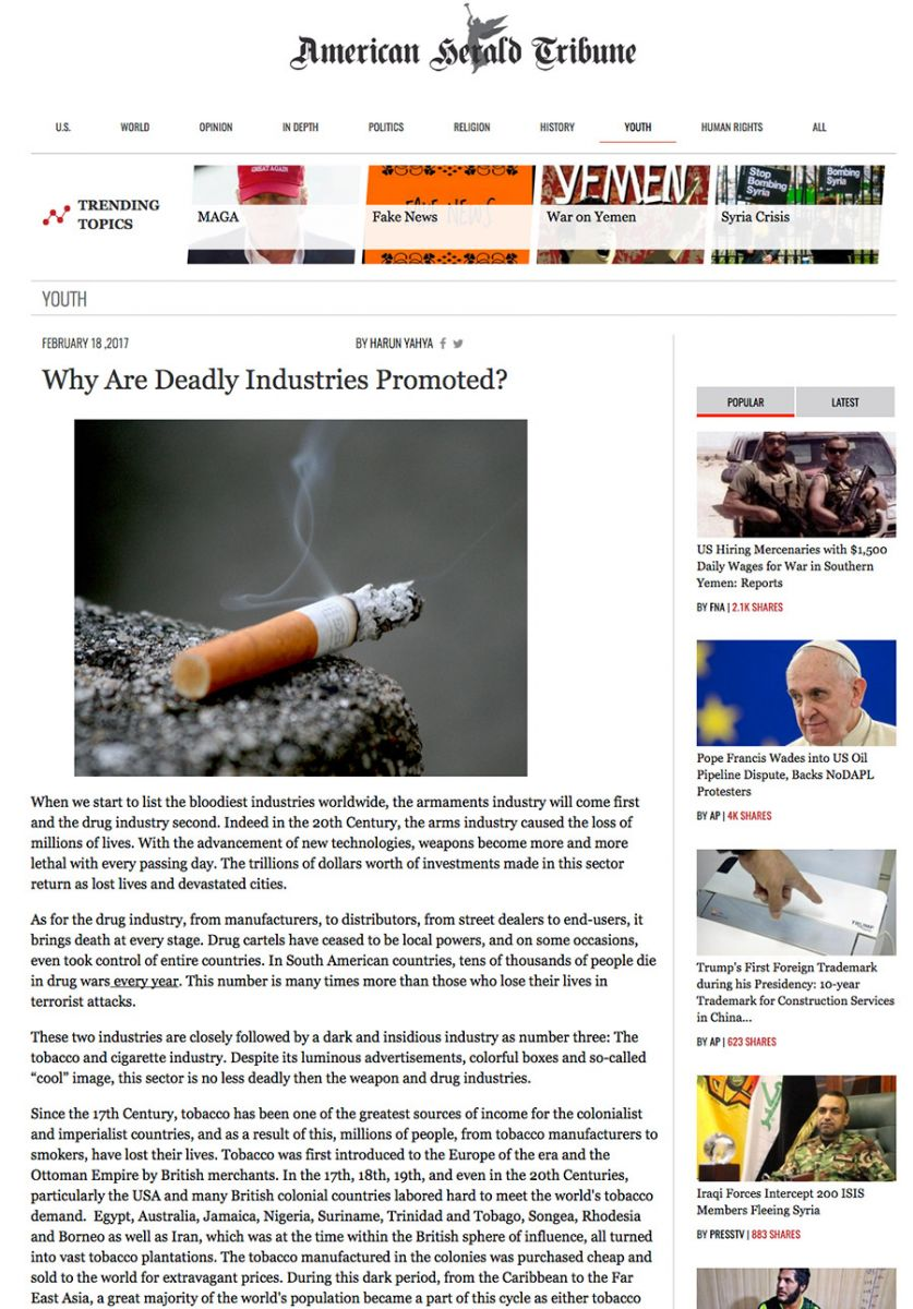 Why Are Deadly Industries Promoted?
