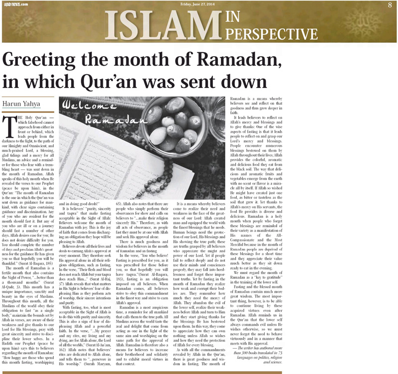 arab news_adnan_oktar_greeting_ramadan2