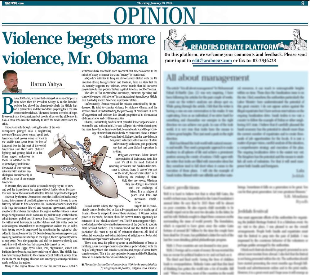 arab news_adnan_oktar_violence_obama_2