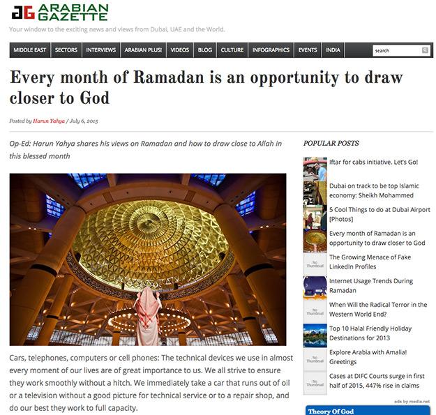 arabian gazette_adnan_oktar_ramadan_draw_closer_to_God