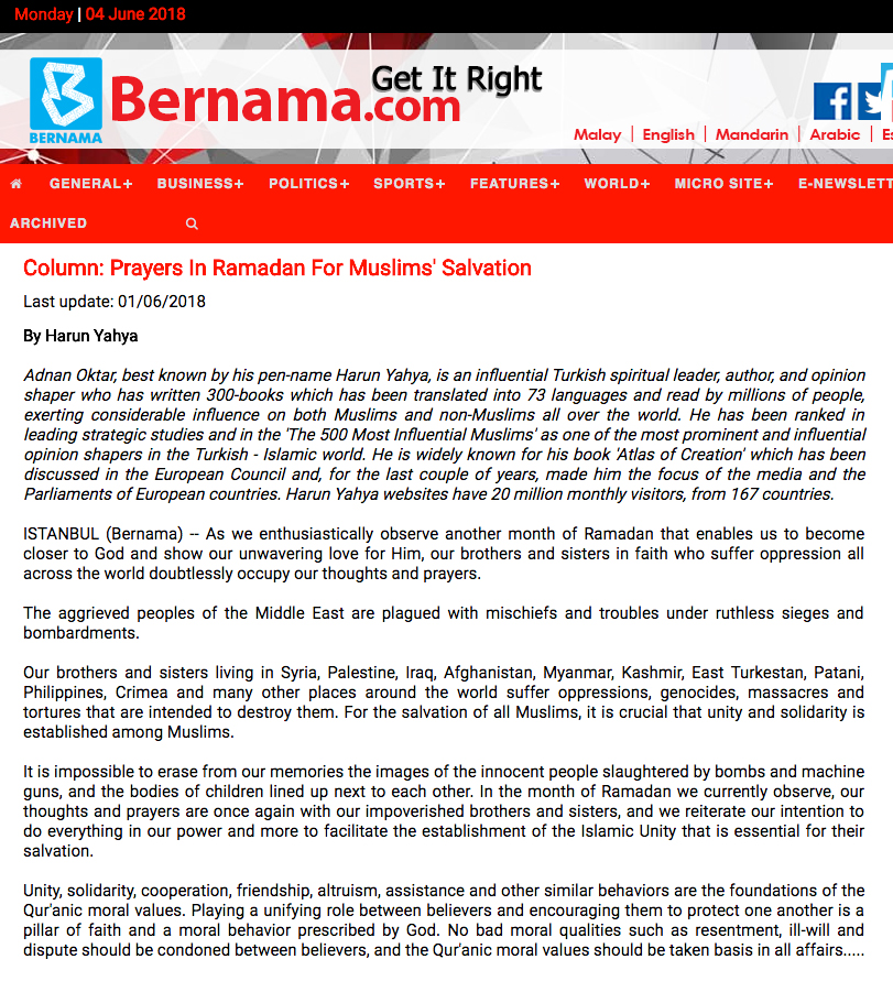 bernama adnan_oktar_prayers_for_salvation_of_Muslims