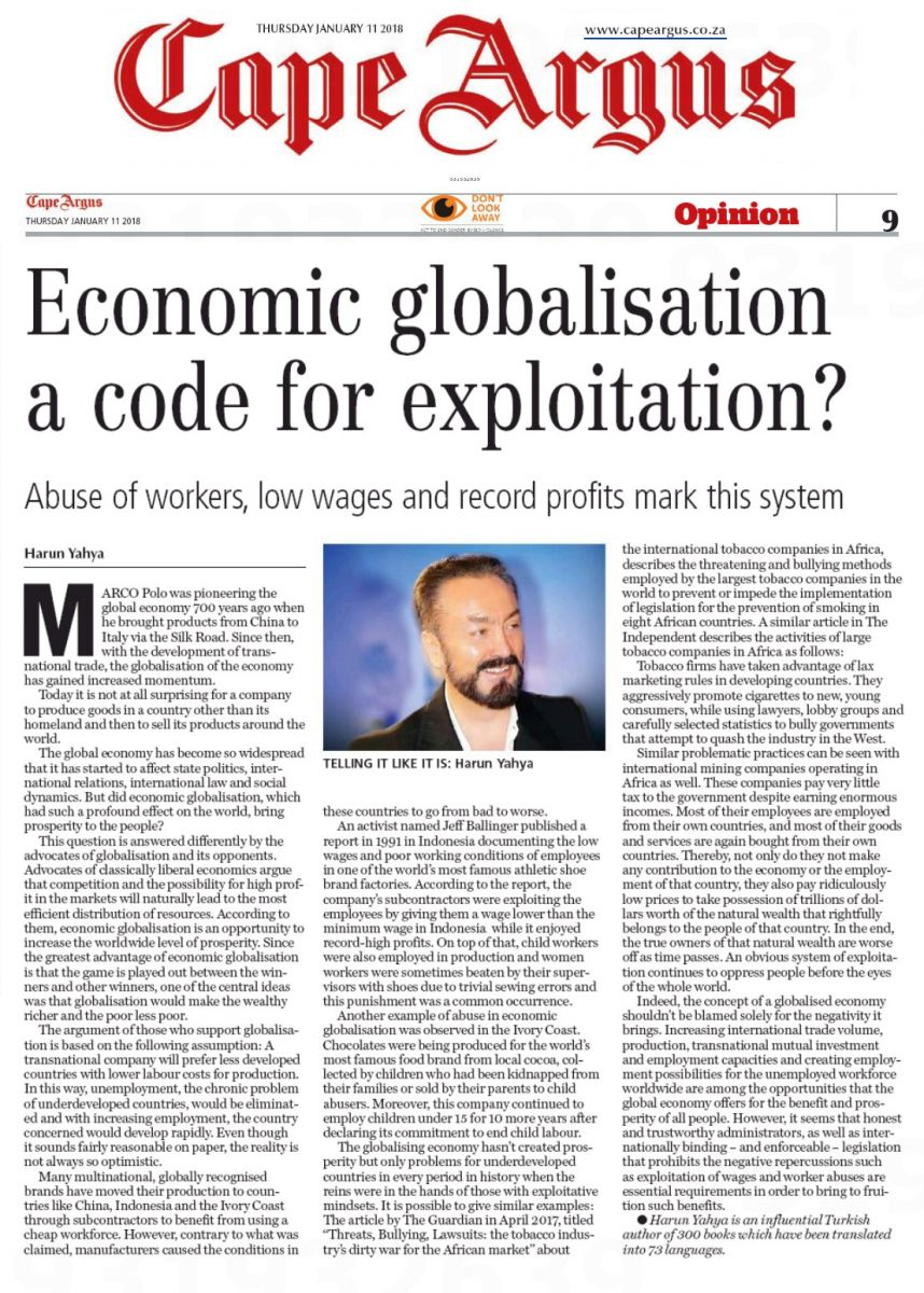 globalization and even economics articles