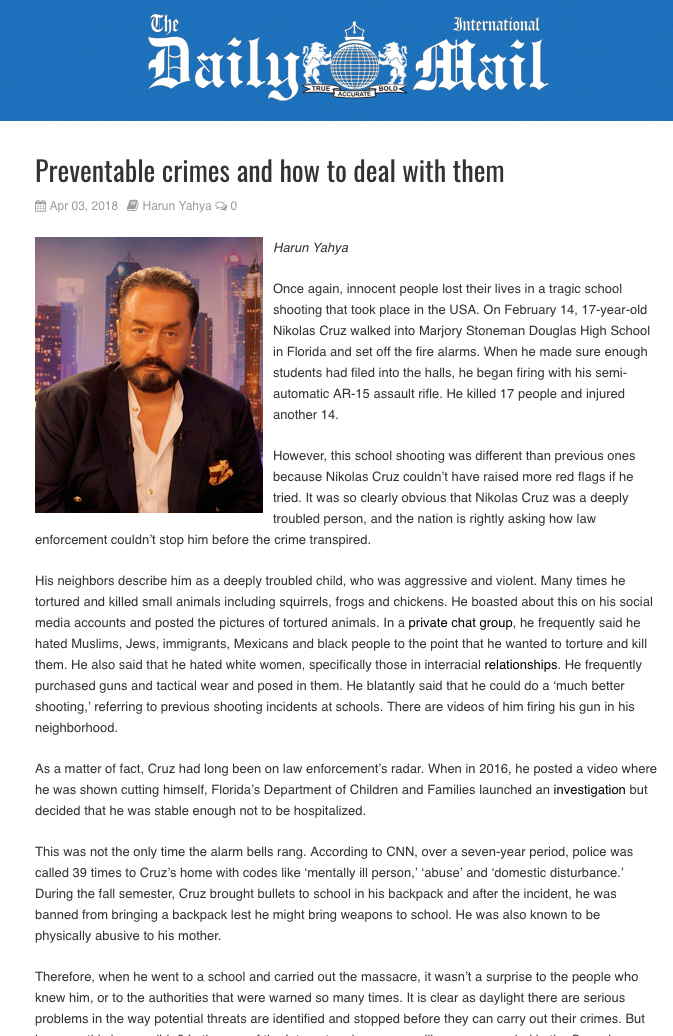 daily mail_adnan_oktar_preventable_crimes_and_how_to_deal_with_them