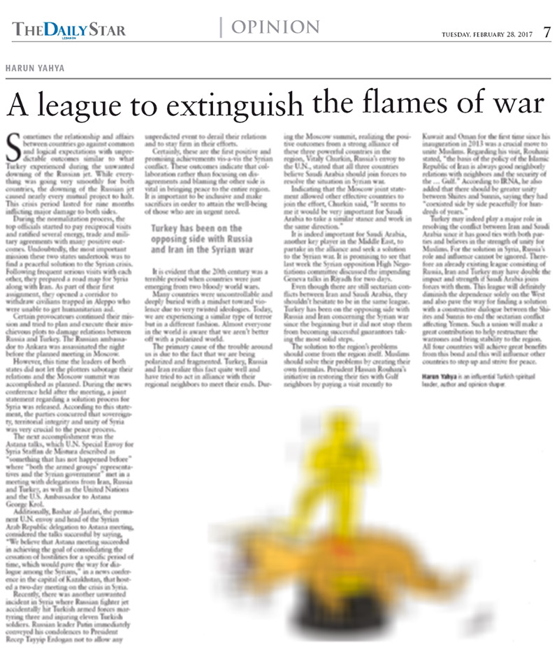 A league to extinguish the flames of war