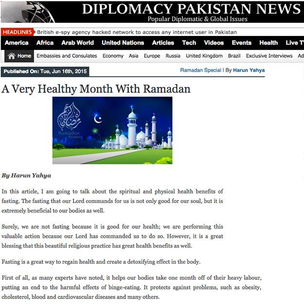 diplomacy pakistan_adnan_oktar_healthy_month_ramadan