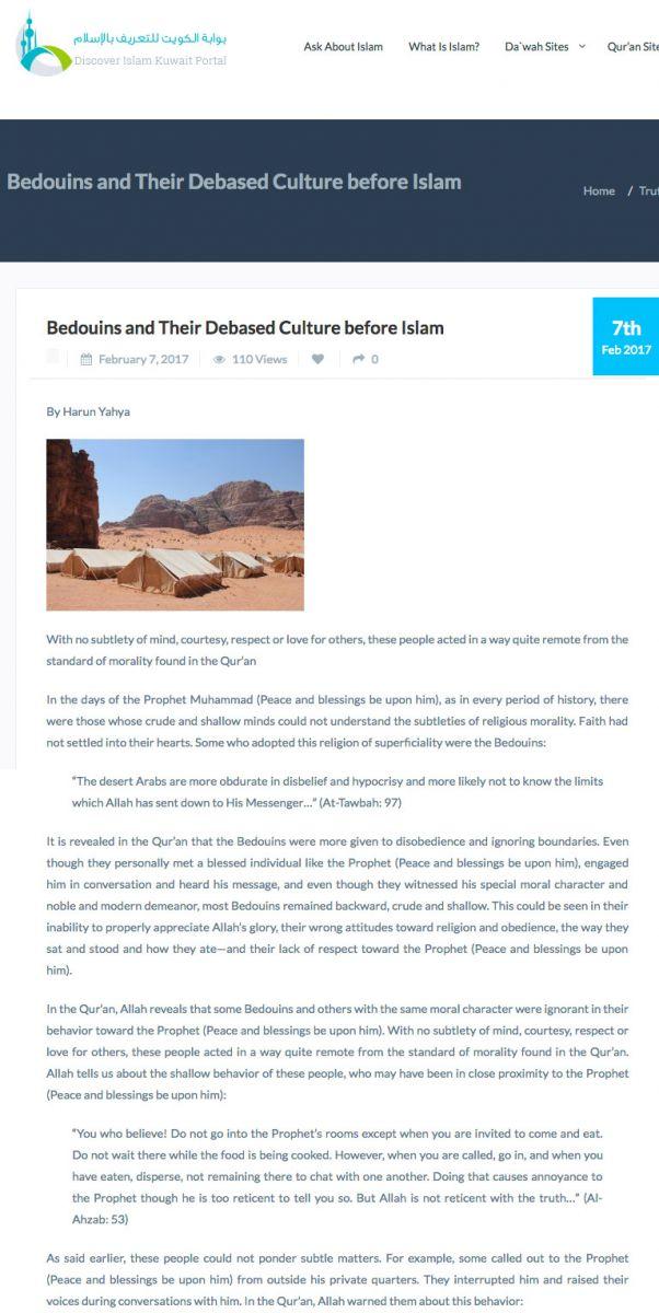 İslam Öncesi Bedevi Kültürü