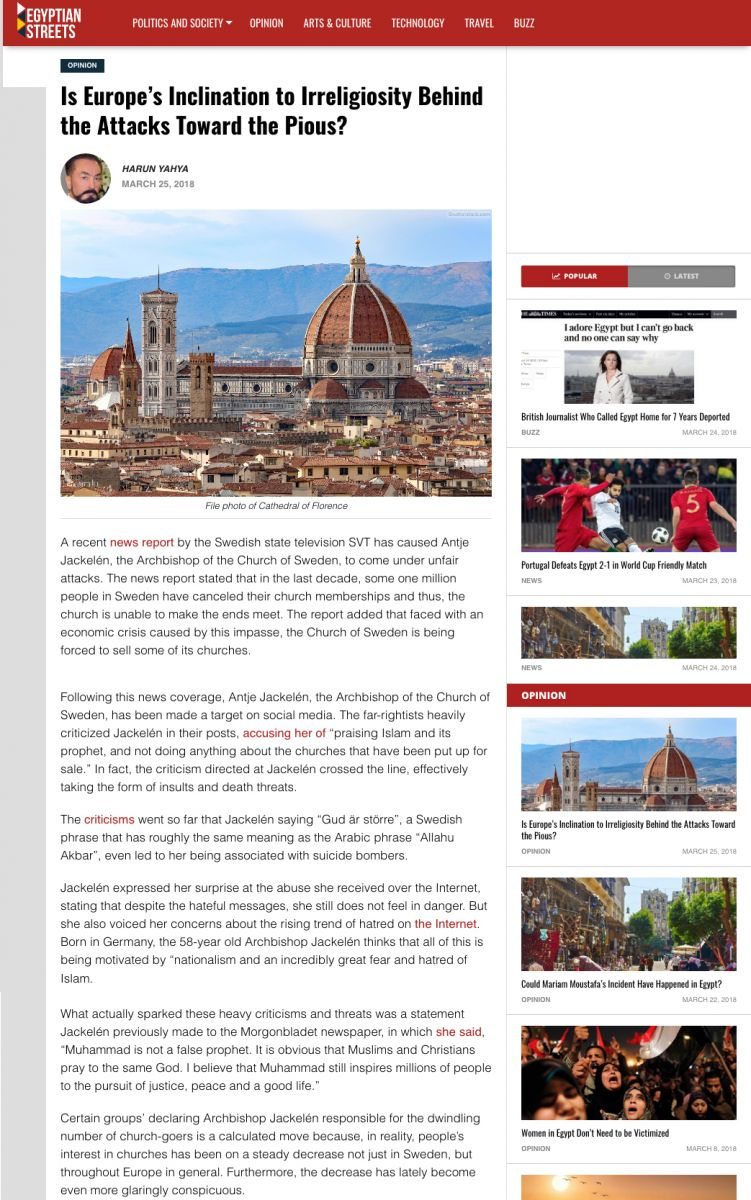egyptian streets_adnan_oktar_is_Europe_s_inclination_to_irreligiosity_behind_the_attacks_toward_the_pious