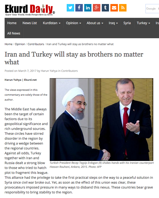 Iran and Turkey will stay as brothers no matter what