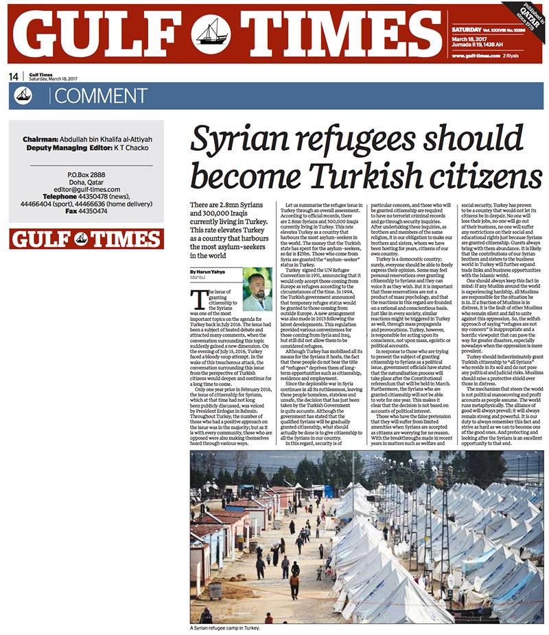 Suriyeliler Vatandaşımız Olmalı