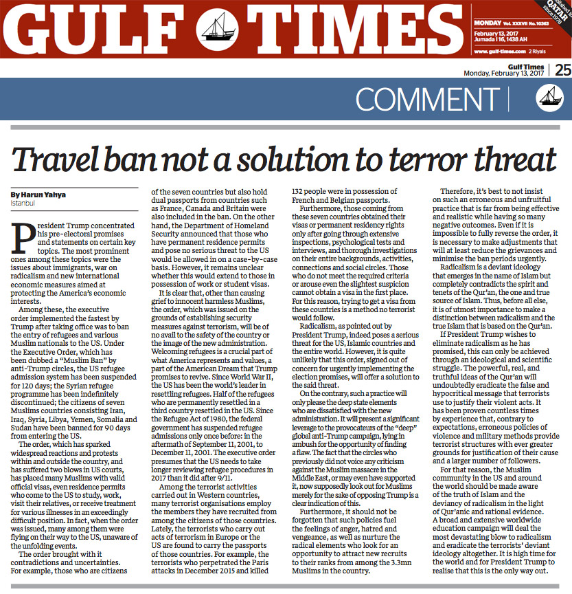 Travel ban not a solution to terror threat