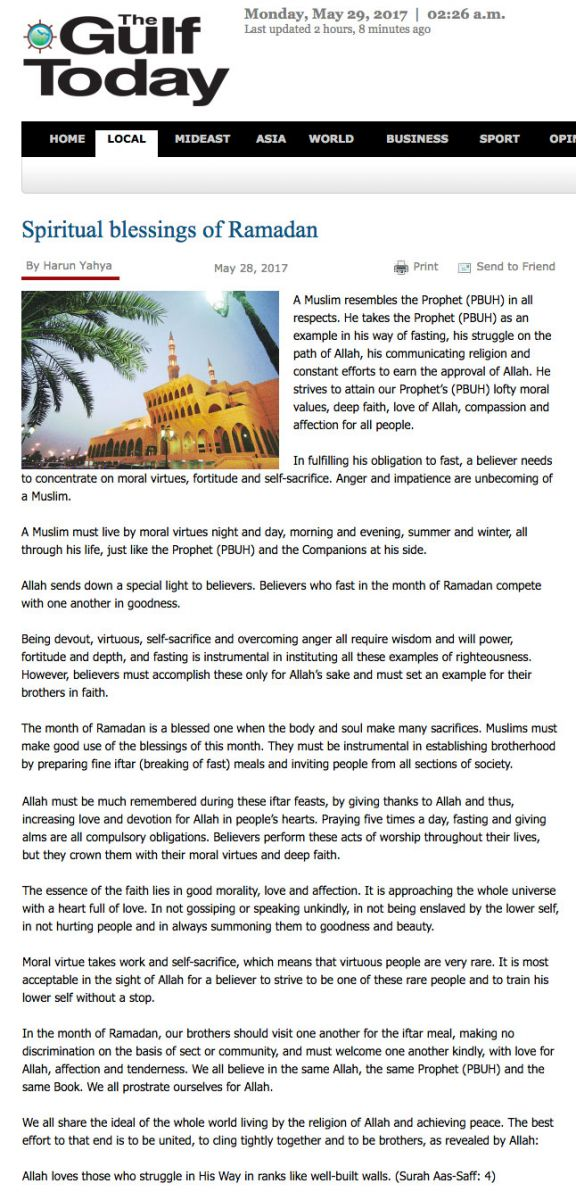 gulf today_adnan_oktar_spiritual_blessings_of_Ramadan
