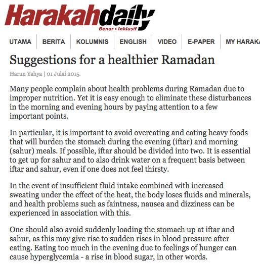 harakah daily_adnan_oktar_suggestions_healthier_ramadan