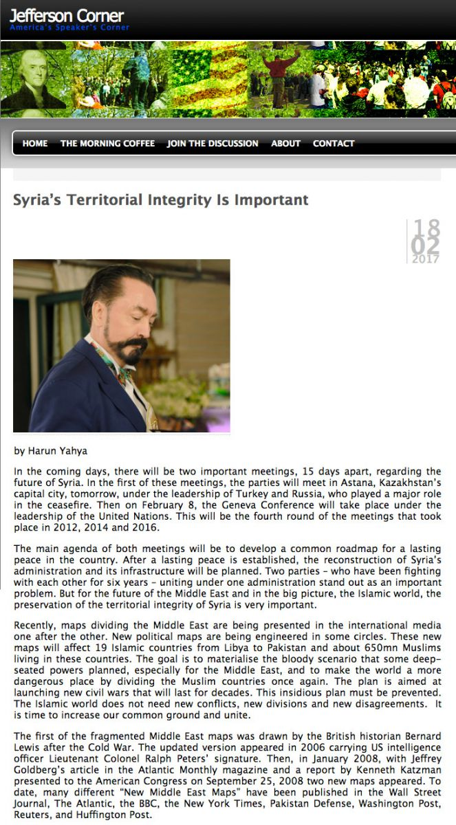 Syria's territorial integrity is important