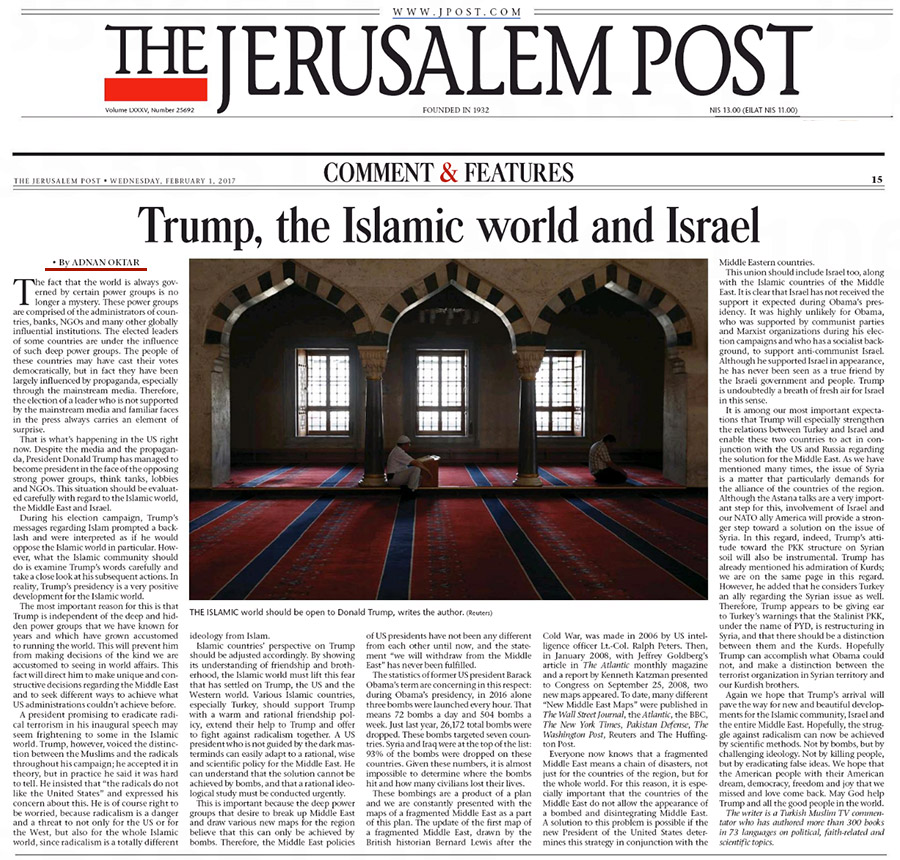 Trump, the Islamic World and Israel