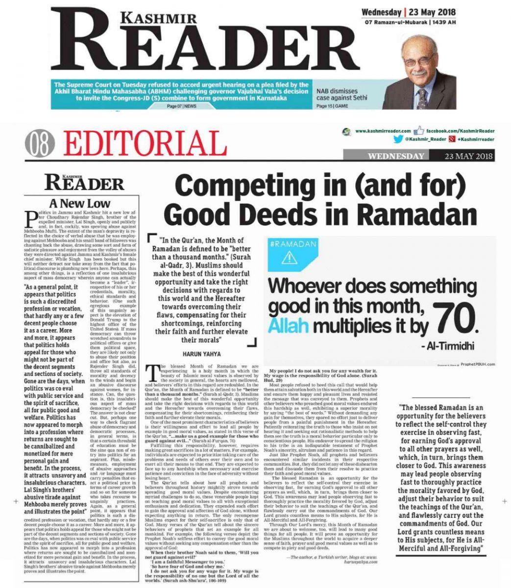 kashmir reader_adnan_oktar_competing_in_good_deeds_in_Ramadan