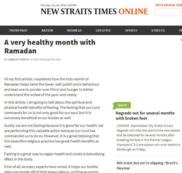 new straits_times_adnan_oktar_healthy_month_ramadan