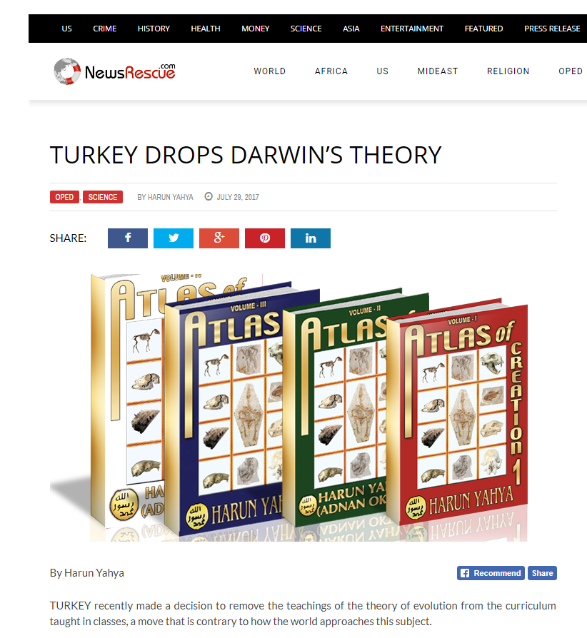 Türkiye, müfredat ve evrim