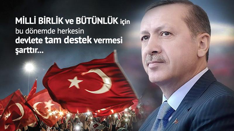 Milli birlik ve bütünlük için