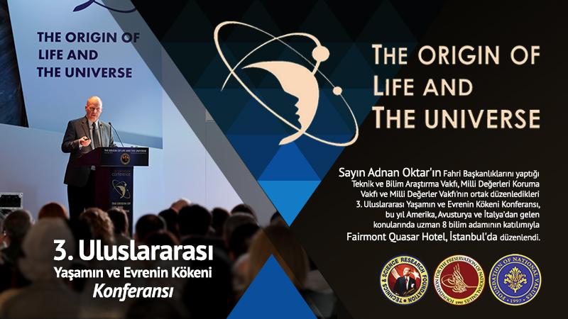 3. Uluslararası Konferans - Yaşamın ve Evrenin Kökeni