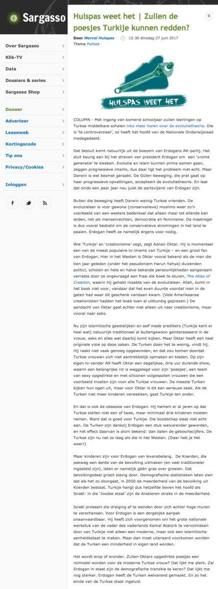 Adnan Oktar'ın evrim karşıtı çalışmalarının Avrupadaki etkisi Hollanda basınında