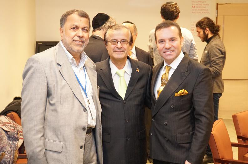 Imam Agha Jafri, Amerika Müslüman Kongresi Başkan Yardımcısı Dr. Boris Pincus, Orta Asya Dinleri ile Müzakere Kuruluşu Başkanı